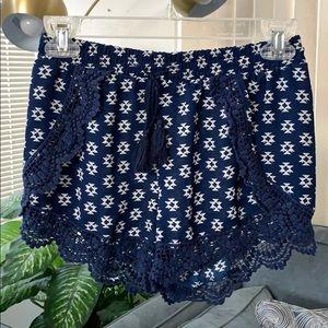 Target Navy Blue Printed Shorts
